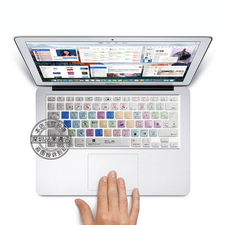 Freeship clavier en Silicone peau autocollant de Protection pour illustrateur touches de raccourci pour 13
