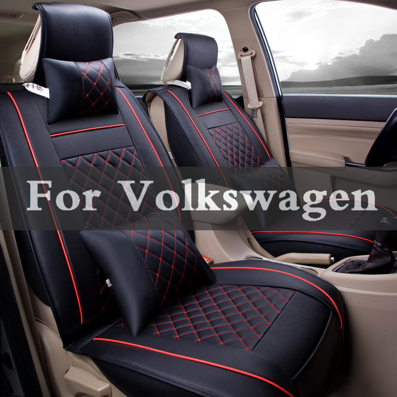 Car Pass Artificial Leather Auto Seat Covers Automotive Seat Pad For Volkswagen Beetle Golf Plus R Gti Bora Fox Eos customization car seat cover general cushion artificial leather car pad car styling for volkswagen beetle cc eos golf jetta pass