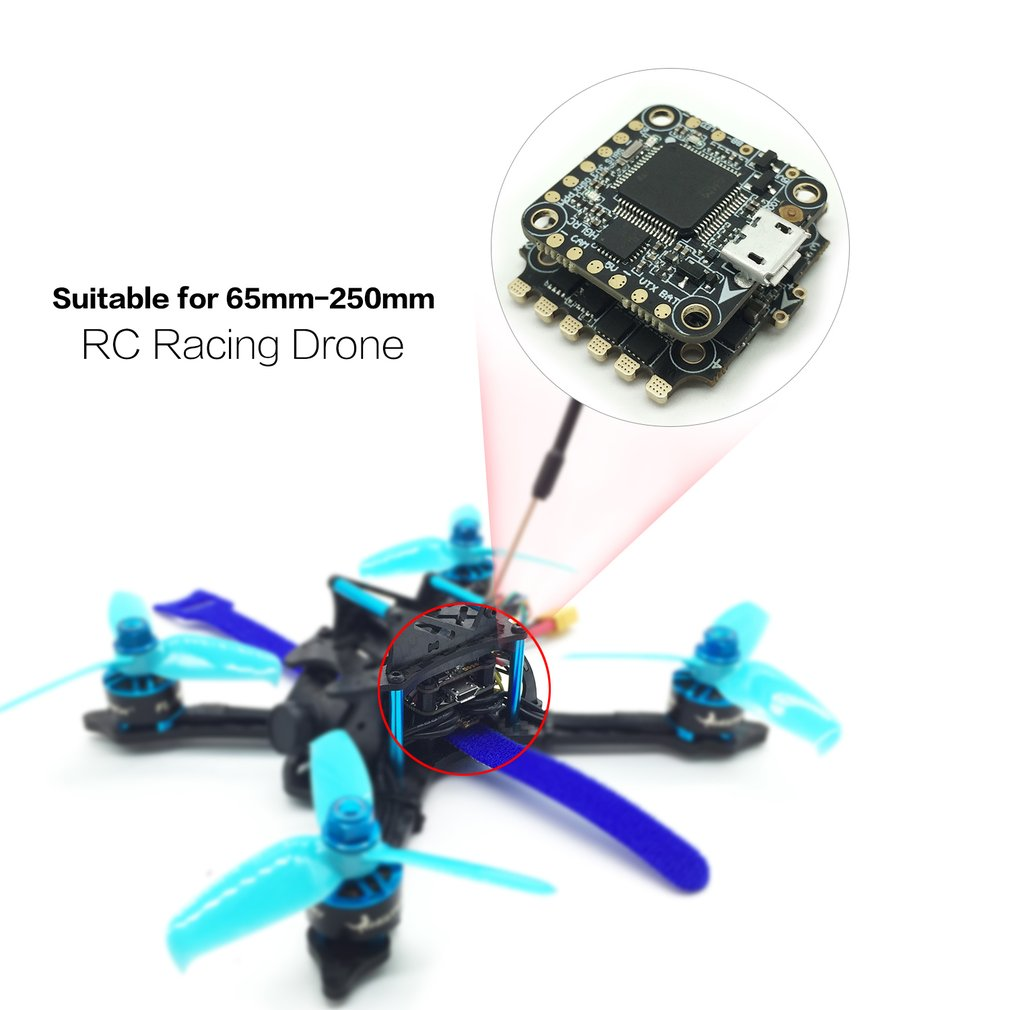 HGLRC XJB F428 F4 Tower Flight Controller Betaflight OSD 2-4S 4in1 28A Blheli_S ESC for 65mm-250mm RC Racing Quadcopter Drone hglrc xjb f440 f428 f438 f4 tower flight controller betaflight osd 4in1 40a blheli s esc for 65mm 250mm rc racing drone parts