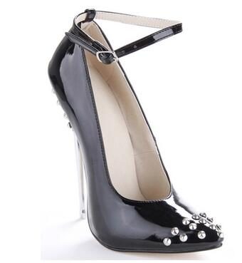 Basic women black/green/blue pointed toe high heel shoes Ladies' rivets super high thin heel pumps High heels Sexy catwalk shoes classic open heel pointed toe high heel pumps for women ladies sexy shallow thin heel shoes women summer high heels dress shoes