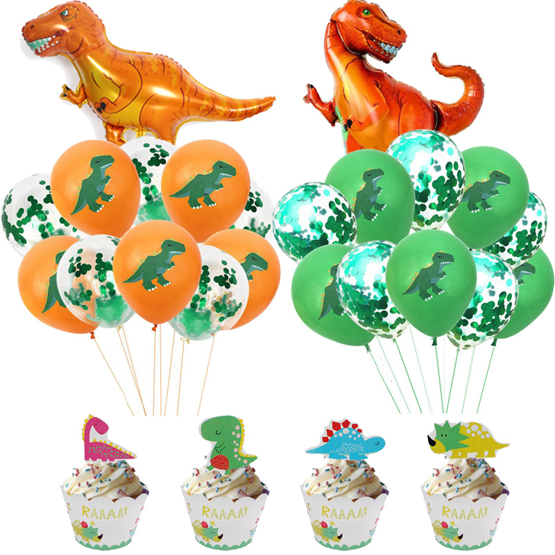 Image 5 - WEIGAO Dinosaur Party Decor Kids Dino Birthday Party Decor Disposable Paper Drinking Straws Kids Birthday Party Foil Balloons-in Disposable Party Tableware from Home & Garden