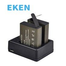 Для экшн-камеры Батарея с 2 шт. Батарея + одним или двумя Зарядное устройство для eken H9 H9R H3 H3R H8 H8R H6S H5Splus SJCAM SJ4000 SJ5000