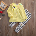 Newborn Infant Baby Kids Girl Floral Cardigan Top Pant Leggings 2pcs Outfits Set