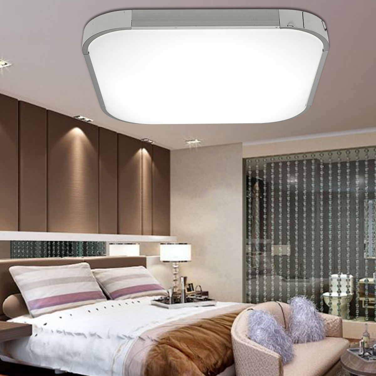 28W Square LED Ceiling Lights Down Light Flush Mount Ceiling Lamp for Living Room Home Bedroom Kitchen Fixture White Lighting цена 2017