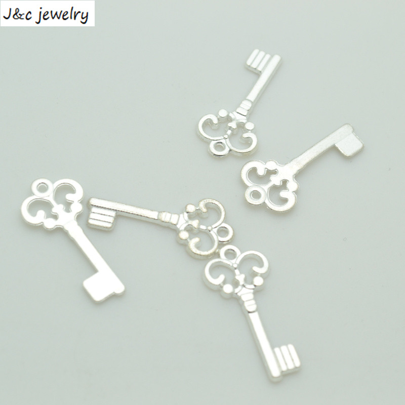 New Arrival 75 pcslot  Alloy Charms Pendant  key silver plated 21*10 mm Jewelry Making DIY Charms Handmade Crafts 34179B
