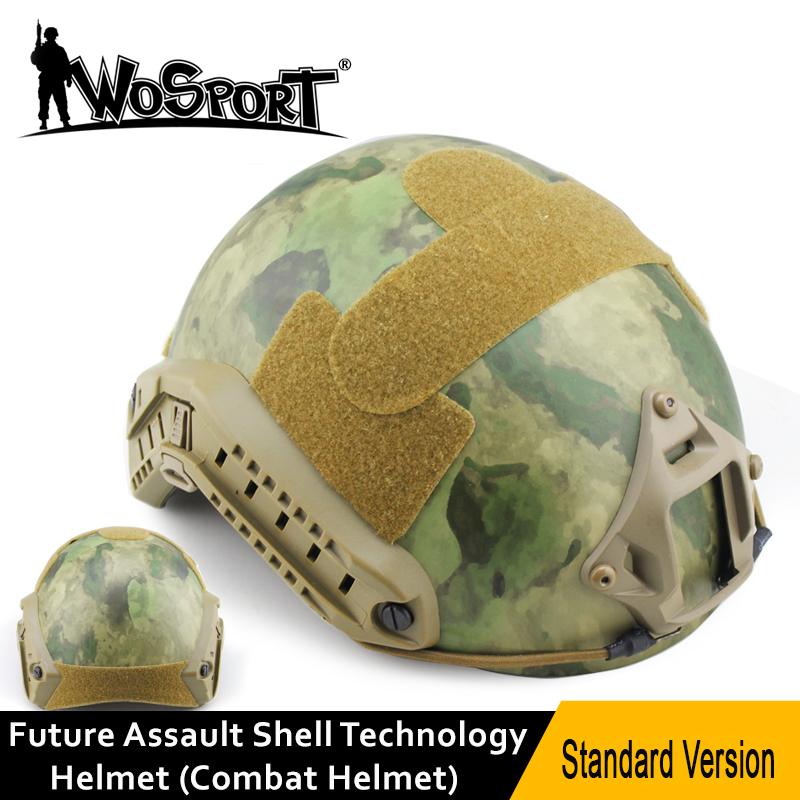 WOSPORT Tactical FAST Helmet Protective ARC Camou Movies Prop for Airsoft Paintball Military Outdoor Sports CS Wargame Cospaly mich 2000 military tactical airsoft paintball helmet wargame dear movie prop cosplay