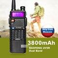 Cb rádio dual band walkie talkie baofeng uv-5r 3800 mah max 5 w Transmissor de Rádio hf Presunto uv5r Rádio em Dois Sentidos Raido transceptor