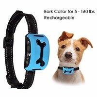 Bark Collar Rechargeable Waterproof Bark Collars For Medium Large Small Collar Beep Vibration Safe Shock Dog