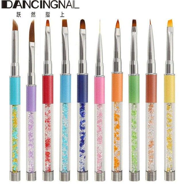 10pcs High Quality Nail Art Brush Pen Painting Drawing Design Set Kit Uv Gel Polish Liner