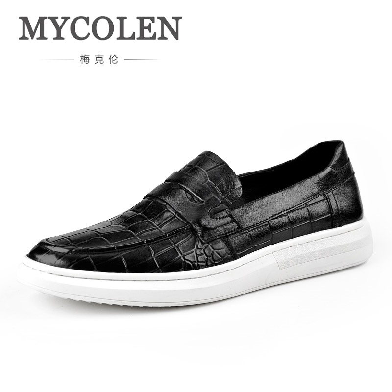 MYCOLEN 2018 Spring/Summer Men Shoes Black Breathable Mens Shoes Casual Fashion Shoes Classic Gentleman Flat Shoes Scarpe men leather shoes casual 2017 spring summer fashion shoes for men designer shoes casual breathable mens shoes comfort loafers
