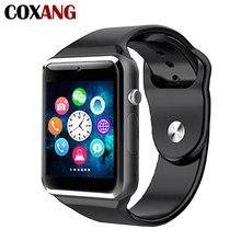 A1 Inteligente Relógio Para Homens Com Câmera Do Bluetooth Relógio Inteligente Telefone Celular Relógio de Pulso A1 Smartwatch Para Android IOS Da Apple huawei
