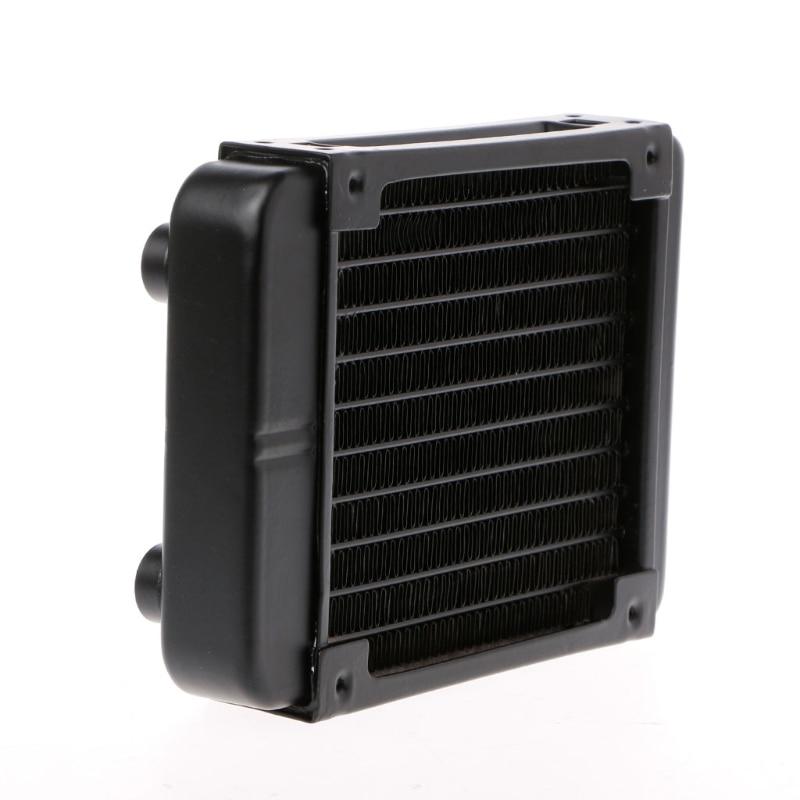 Water Cooling Cooler 120mm Aluminum Computer Radiator Water Cooler 18 Tube CPU Heat Sink Exchanger цена