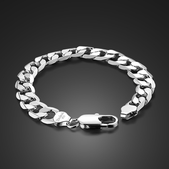 9a4d3e42eb67 ¡Venta caliente! pulsera de plata de ley 925 para hombre de ancho, 23 cm de  ancho, 12mm de largo, pulsera de plata sólida: joyería de plata 925 ...