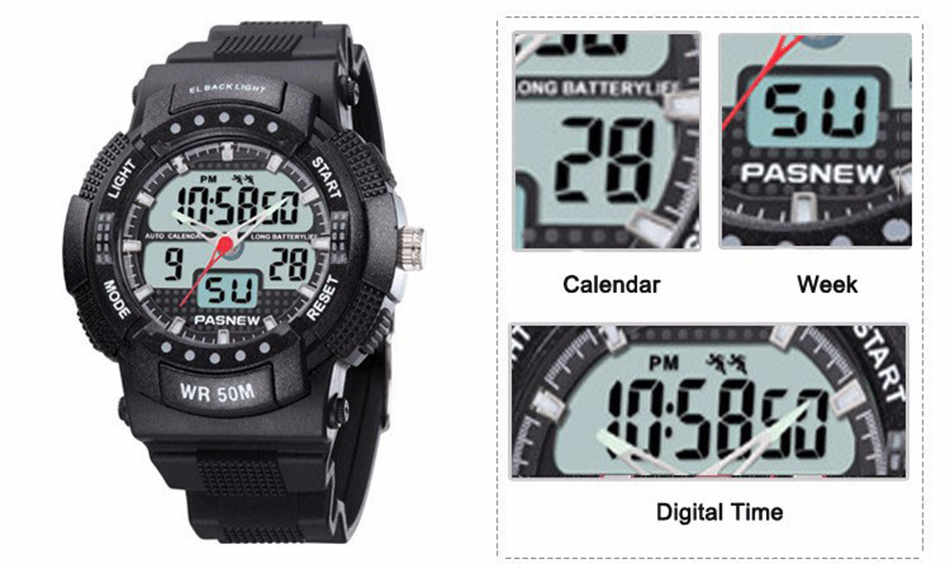 361 - detail - 2018 Free Shipping Fashion Men Watch Waterproof Sport Men Wristwatch S Quartz Digital Boy Clock Relogio Masculino (2)
