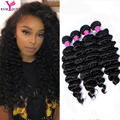 Brazilina 7A Brasileira Onda Profunda Curly Virgem Cabelo 4 pacotes Remy peruca Rainha kinky curly virgem cabelo Weave do Cabelo Humano extensões