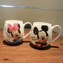 Cartoon Mug Mickey Minnie Ceramic Cups Milk 320ml Creative Fashion Couples Mug