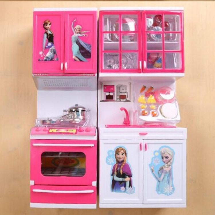 Top Luminous Anna Elsa Fittings Arrival Child Classic Kitchen Set