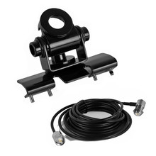 YIDATON RB-400 Car Antenna Mount for KENWOOD IC YAESU VERTEX Mobile Radio With S0239 Connector RB400+5M Extend Radio Cable