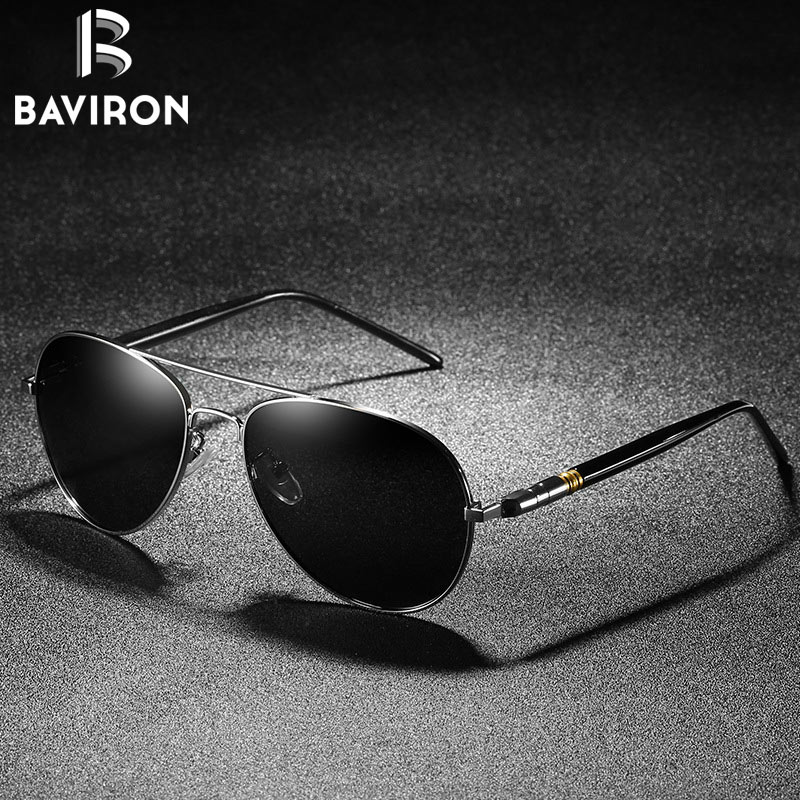 25bfca7bad BAVIRON Men Polarized Sunglasses Men Retro Classic Pilot Glasses Brand  Goggoles uv Protection Metal Frame Oculos de sol-in Sunglasses from Apparel  ...