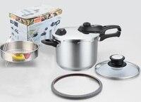 Бесплатная доставка скороварки кухонной утвари inox #304 высокого качества из нержавеющей стали со горшок с 1 больше крышку кастрюли