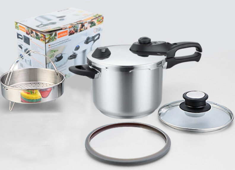 free shipping pressure cooker kitchen utensil INOX #304 high quality stainless steel stock pot with 1 more cover cooking pot