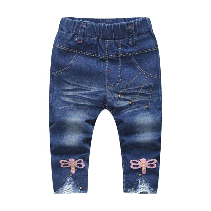 MV Childrens Wear New Pants Girls Jeans Horns Kids Trousers Demin