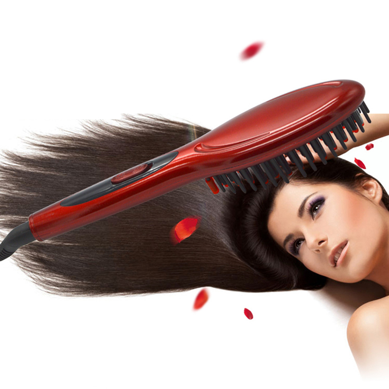 Electric hair straightener brush Hair Care Styling hair straightener Comb Auto Massager Straightening Irons SimplyFast Hair iron|Electric Hair Brushes| |  - title=