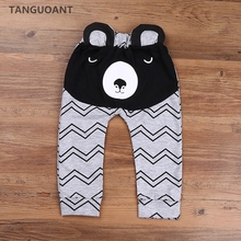 Купить с кэшбэком TANGUOANT Hot Sale Boys Pants Bears Children Harem Pants For Girls Boy New Fashion Toddler Child Trousers Baby Clothes