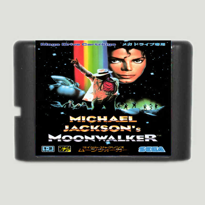 Michael Jackson's Moonwalker 16 Bit Game Card For Sega Mega Drive & Sega Genesis
