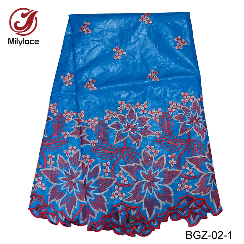 Mily lace African bazin riche getzner 2018 whoelsale price good quality bazin riche fabric 5 yards