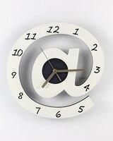 12 дюймов @ часы Черный и белый цвета цвет искусство часы деревянные современный краткое Mute настенные часы Тихая карманные часы для украшени...