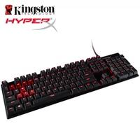 HyperX סגסוגת FPS מקלדת משחקים מכאניים אור אחורי LED 100 אחוז אנטי ghosting ו fFull n-key גלגול מקלדת דובדבן