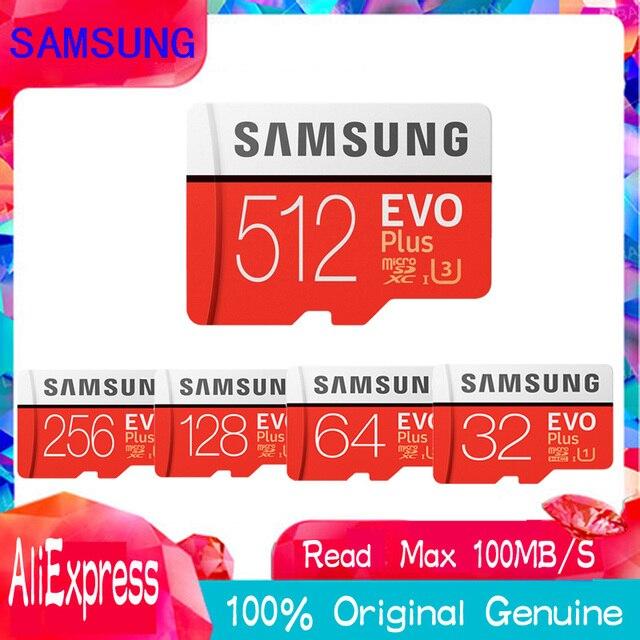 מקורי SAMSUNG EVO + כרטיסי זיכרון 64 GB EVO בתוספת U3 128 GB 256 GB 512 gb Class10 מיקרו SD כרטיס 32 GB microSD UHS-I TF כרטיס