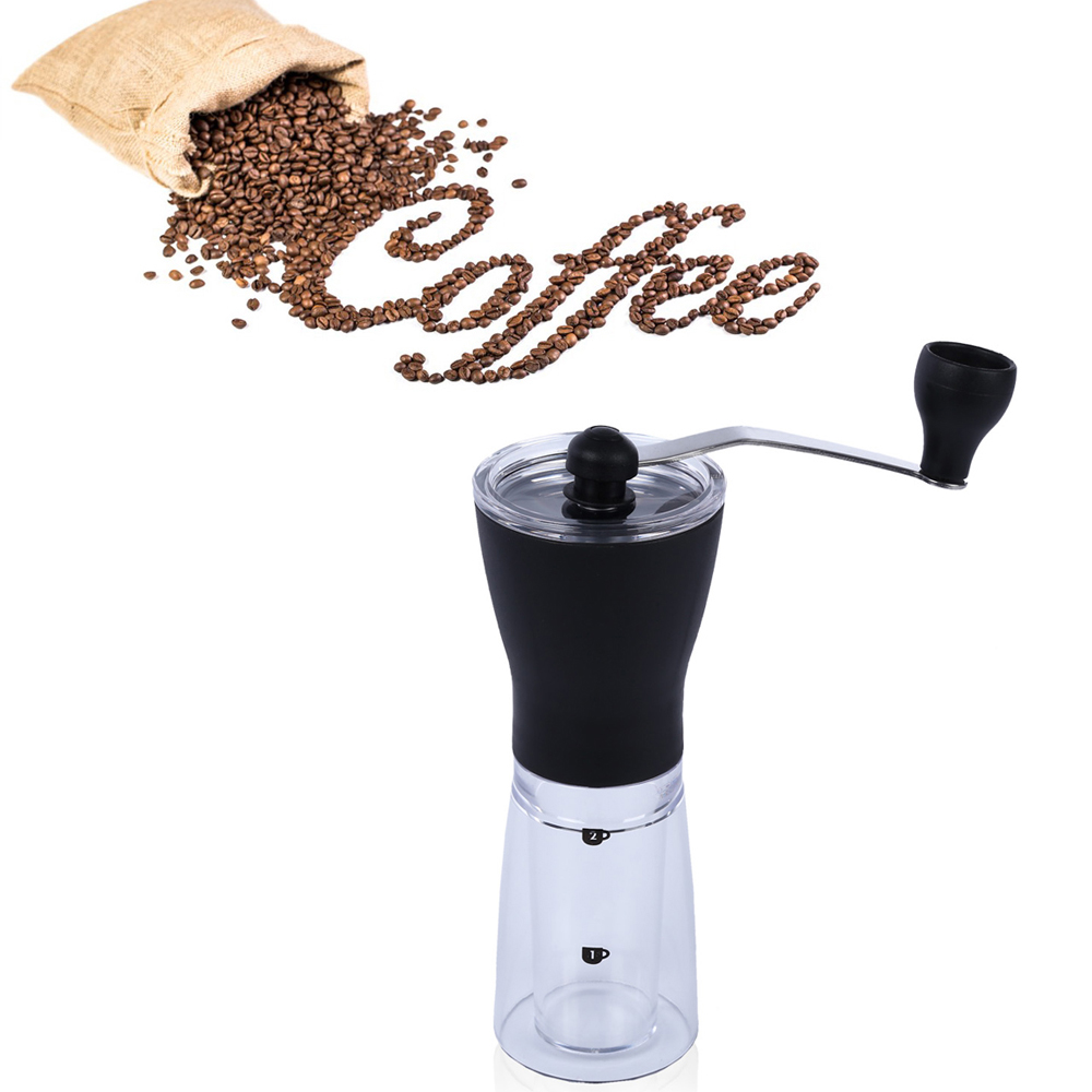 Slim Ceramic Burr Coffee Bean Grinder Manual Hand Crank Coffee Maker Burr Corn Mill Bean Mill Grinder Machine Coffee Tools
