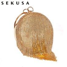 Fashion Tassel Women Evening Bags Diamonds Wedding Lady Day Clutches Rhinestones Elegant Shoulder Purse Bags Hard Solid  все цены