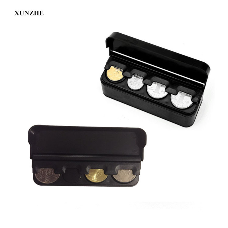 <font><b>Car</b></font> Storage <font><b>Box</b></font> Black Plastics <font><b>Car</b></font> Coin Organizer Case Loose Change Money Storage <font><b>Box</b></font> Container Money Coin Holders Organizer image