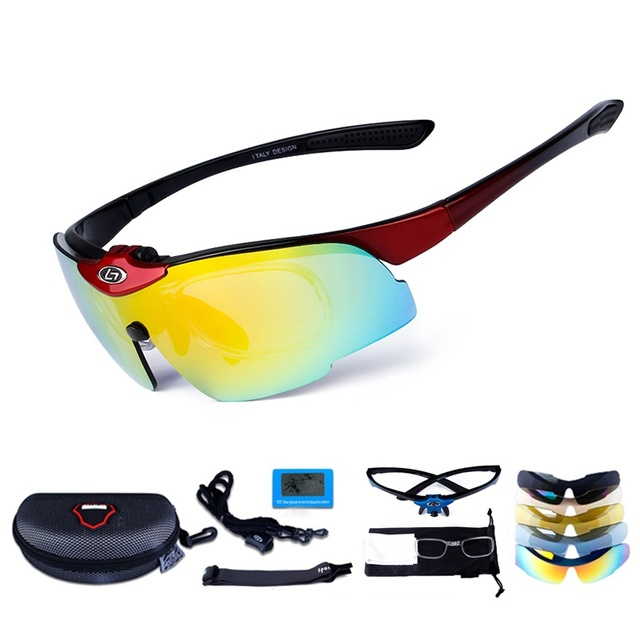 757b8791ee6a Windproof Polarized Cycling Glasses Outdoor Fishing Moutain Road Bike MTB  Bicycle Sun Glasses Sports Sunglasses Myopia 4 Lens
