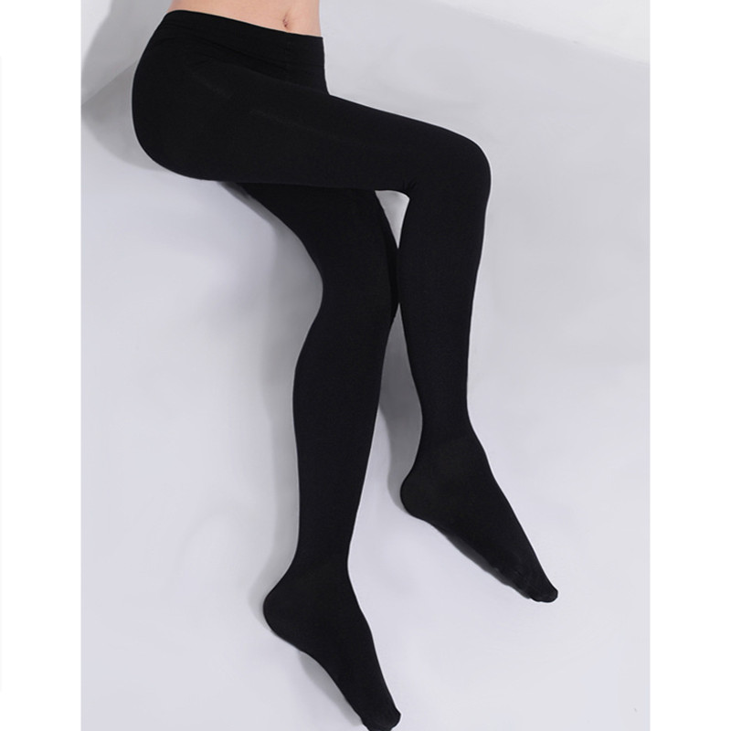 2020 2Pcs Women 150D  Microfiber Thermo Fleece Lined Tights Thermo Pantyhose in Solid Black Color Super Soft and Warm for Winter