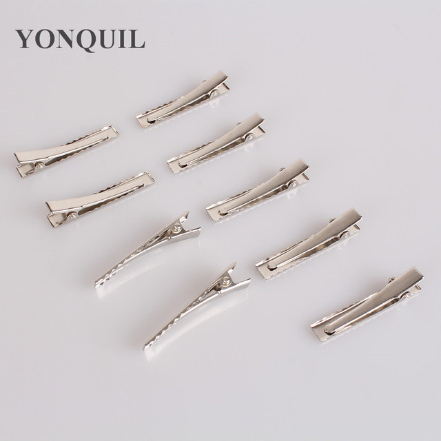 150pcs/lot Wholesale New Prong Barrettes &Brooch Clips Finding, Alligator clips Crocodile Clips 45mm Fit Jewelry DIY accessories