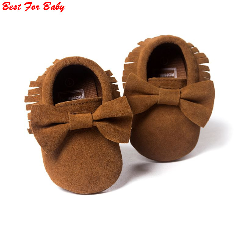 Spring/Autumn brand Romirus Pu leather Baby Moccasins shoes infant suede boots first walkers Newborn baby shoes