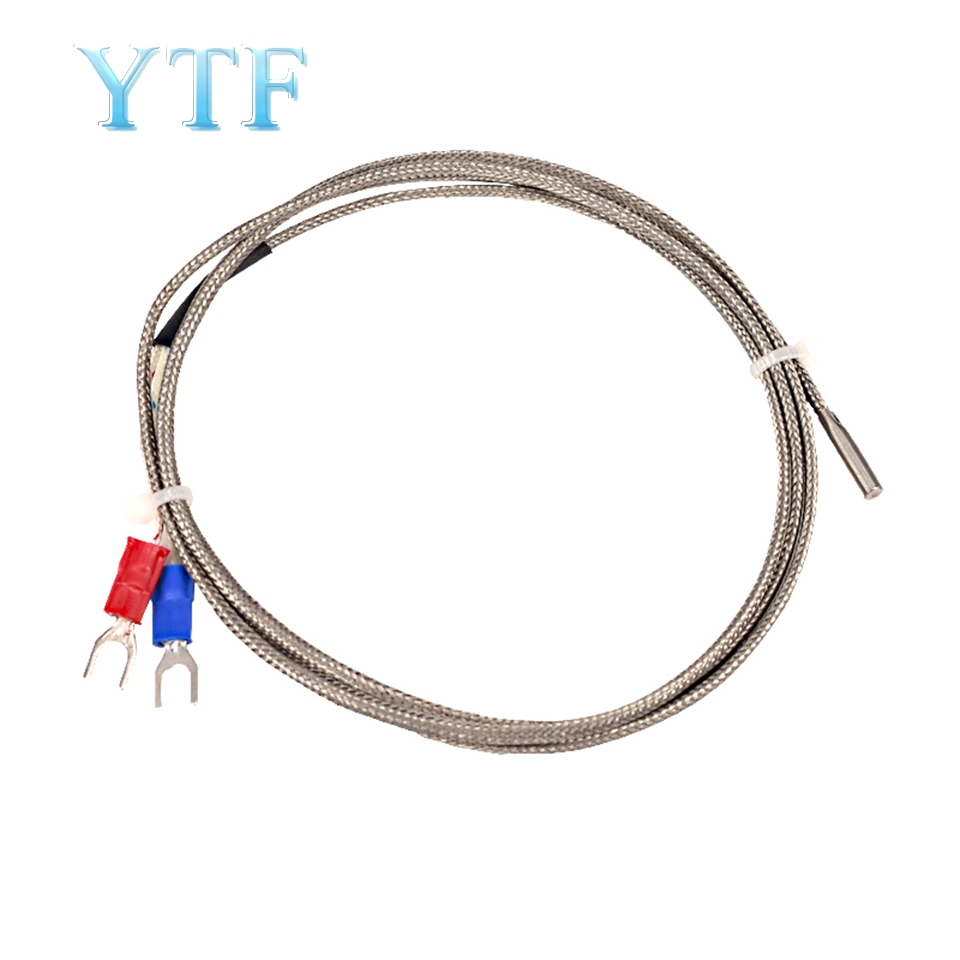 3D Printer Parts K-type Thermocouple Temperature Sensor K-type Thermocouple Temperature Measurement Line 3*15*1000mm
