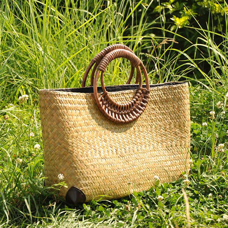 Bailar handmade woven tote women handbags  fashion beach bag for Summer Big Stra