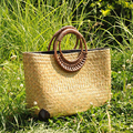 Bailar handmade woven tote women handbags  fashion beach bag for Summer Big Straw Bags designer vintage shopping travel handbags