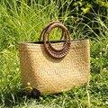 Bailar hecha a mano tejida tote bolsos de las mujeres bolsa de playa de moda de Verano de Paja Grande Bolsas de diseñador bolsos de viaje de compras de la vendimia