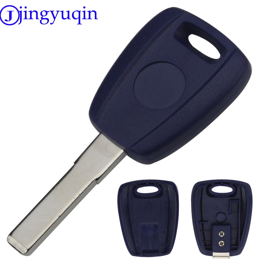 jingyuqin Remote Key Case Cover For Fiat Key Shell SIP22 Blue Blank Shell For Fiat 500 Ducato Transponder Uncut Blade With Logo free shipping transponder key shell for tpx gt10 blade for alfa 10 piece lot