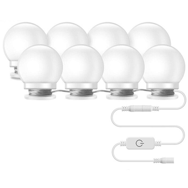 10pcs Makeup Mirror Vanity Led Light Bulbs Lamp Kit 3 Levels Brightness Adjustable Lighted Make Up Mirrors Cosmetic Lights Us