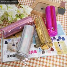 Iridescent Laser Pencil Case Quality PU School Supplies Stationery Gift Pencilcase School Cute Pencil Box School Pencil Bag cheap KEVIN SASA CRAFTS 3 years old LD149 Iridescent Laser PU Spring Summer Autumn Winter As photo showed 19*7cm 0 040kg