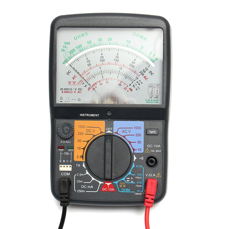 цены на Voltmeter Ammeter With Test Pen Analog Multimeter ACV/DCV/DCA/Electric Resistance Voltage Meter Ohmmeter Tester