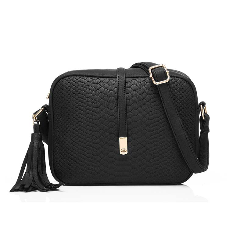 Fashion Women PU Leather Shoulder Bags Small Retro Crossbody Messenger Bag Handbag with Tassel LT88 snakeskin pu tassel crossbody body bag price