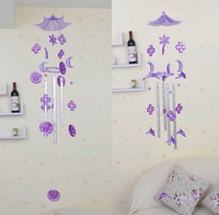 Dolphin Crystal Bells Aluminum Tube Wind Chimes Students Send Gifts Crystal Handicraft Indoor Adornment Door Decoration
